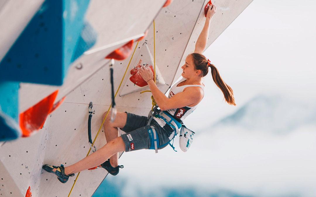 Olympisches Klettergold für Sandra Lettner