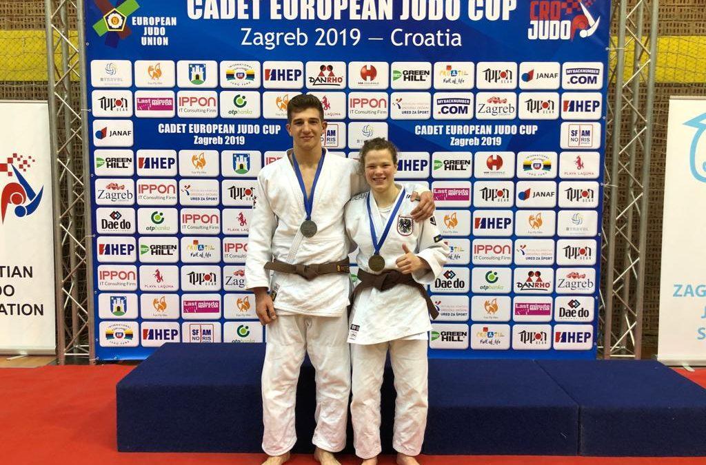 Rosalie Wöss im Judo-Europacup am Stockerl