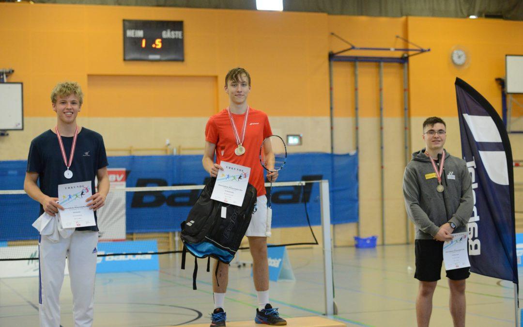 Österreichische Meisterschaften Badminton der Altersklasse U17/U19 in Traun – Talentezentrum und Start Up Sport Talent Kai Niederhuber holt 3 Titel nach OÖ