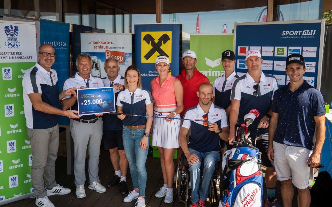 START UP SPORT spielt bei Golfturnier 25.000 Euro für oö. Sporttalente ein